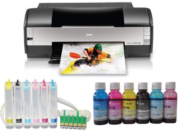 Máy in Epson Stylus Photo 1400 cũ gắn mực Pigment UV
